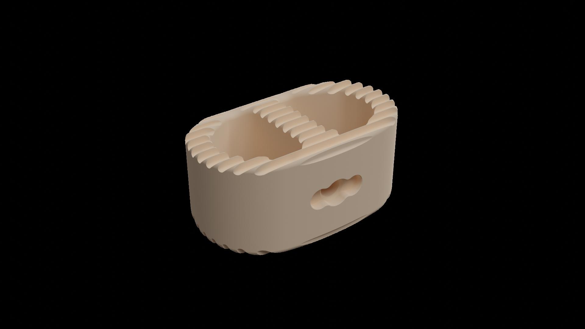 Large Peek Optima ALIF implant with teeth