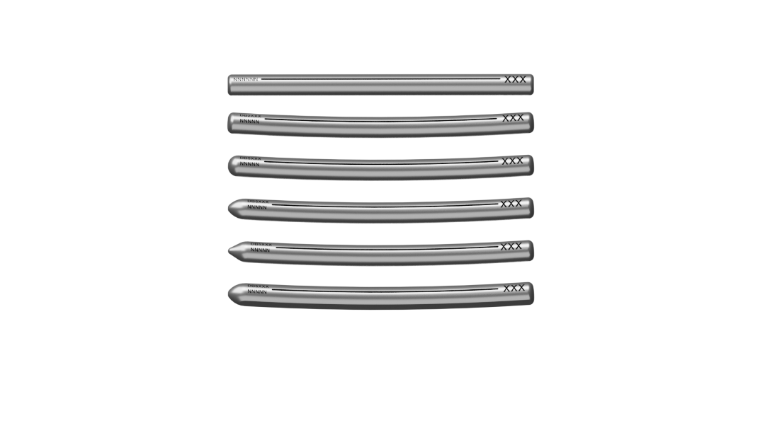 5.50mm Open Straight Rod, 5.50mm Curved Rod, 5.50mm Sub-Nose Rod (available upon request), 5.50mm Bullet Nose Rod, 5.50mm Point Nose (available per request) and 6.00mm Cobalt Chrome Slim Rod Options